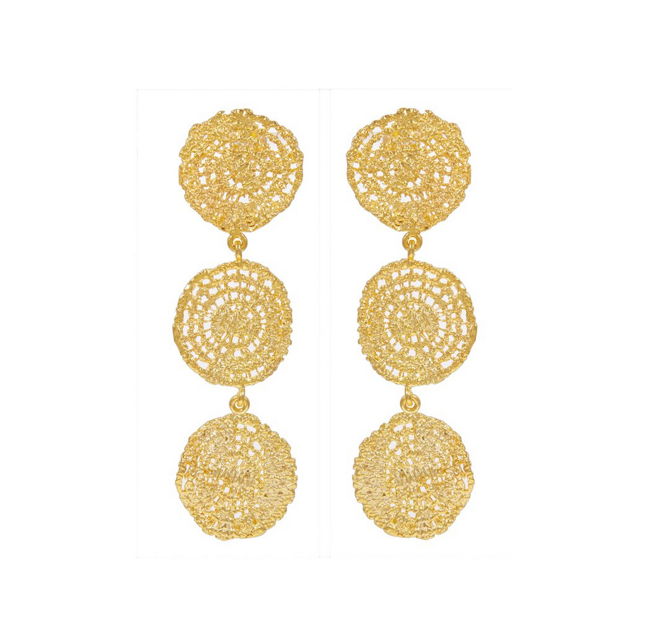 24K GOLD-PLATED SONAR EARRINGS