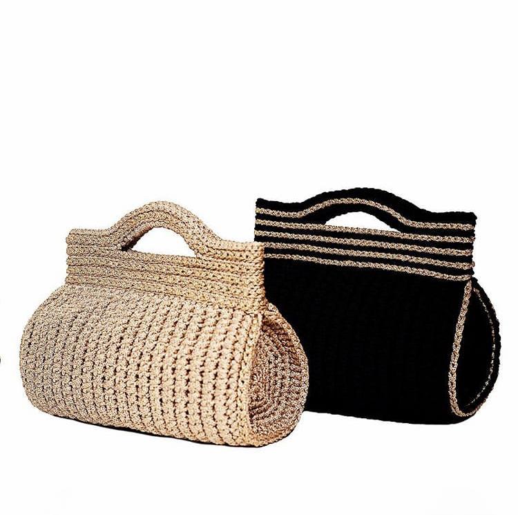 Barrel Crochet Bags
